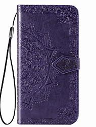 Недорогие -Кейс для Назначение LG LG X Power 2 / LG V50 / LG Stylo 4 Бумажник для карт / Магнитный / Авто Режим сна / Пробуждение Чехол Однотонный Кожа PU / ПК