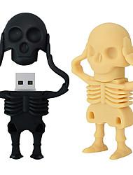 Недорогие -USB-флэш-накопители maikou USB 3.0 креативный скелет в форме ручки пера usb-диск резиновый