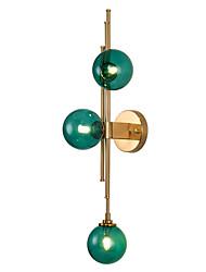 Недорогие -нордический стиль стеклянная стена бра гостиная столовая спальня гальванические металлические настенные светильники прикроватная лампа
