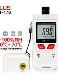 billige -et-176 fuktighetstemperatur datalogger termometer håndholdt digital ikke-kontakt minihygrometer ledet indikator for høy / lav temperatur