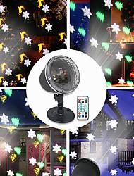 Недорогие -Светодиодная проекционная лампа Рождественская вечеринка Тема серии Пульт дистанционного управления Праздник Атмосфера Освещение 4 режима Снежные деревья Колокола Лось
