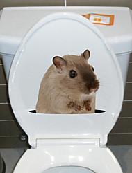billige -søte musetoalett-klistremerker - kjøleskap, klistremerker til dyr, stue / soverom / kjøkken