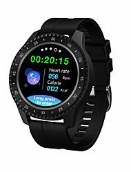 billige -f17 smartwatch bt fitness tracker support varsle / blodtrykksmåling sports smartklokke for samsung / iphone / android telefoner