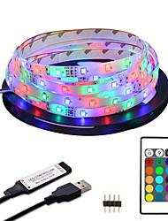Недорогие -ZDM 2 м водонепроницаемый светодиодные полосы света 5 В USB RGB подсветка телевизора 2835 освещения для телевизионной комнаты праздничные украшения с 24 ключами дистанционного управления