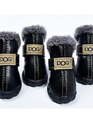 Недорогие -Собака Ботинки и сапоги Одежда для собак Черный Розовый Костюм Назначение Зима Косплей