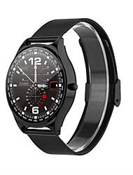 billige -w18 smartwatch rustfritt stål bt fitness tracker support varsle / pulsmåler sports smartklokke for samsung / iphone / android telefoner