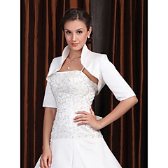 cheap Party Accessories-Half Sleeves Polyester Party / Evening Women's Wrap Wedding  Wraps With Embroidery Coats / Jackets