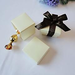 suporte de papel de cartão cúbico com caixas favoritas - 24 favores de casamento