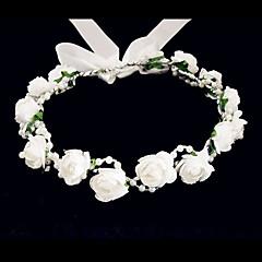 baratos Acessórios de Cabelo-Cristal Tecido Espuma Tiaras Flores 1 Casamento Ocasião Especial Festa / Noite Casual Capacete