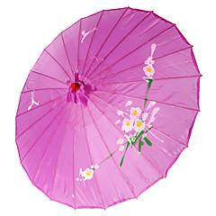 """billige Vifter og Parasoller-Silke Vifter og parasoller Deler / Sett Parasoller Hage Tema Asiatisk Tema Syrin 19""""høy x 32 1/3"""" i diameter (48cm høy × 82cm i diameter)"""