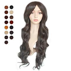 billiga Peruker och hårförlängning-Syntetiska peruker Syntetiskt hår Peruk Dam svart peruk Dagligen