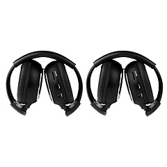 2-pack IR Wireless Two-Channel Foldable Headphones for Car IR-2011D