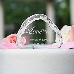 kake topper hage tema krystall med elegant bryllup mottak