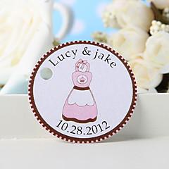billige Klistremerker og etiketter-personlig favorithjelp - rosa forkle (sett med 36) bryllup favoriserer