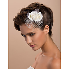 cheap Party Headpieces-Tulle Crystal Fabric Tiaras Fascinators Flowers 1 Wedding Special Occasion Party / Evening Casual Outdoor Headpiece