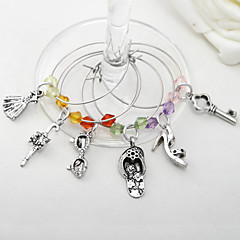 "Bottle Favor-6Piece/Set Charms Klassinen teema Hopea 1 3/4"" in diameter (4,5cm in diameter)"