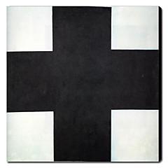 kézzel festett olajfestmény absztrakt fekete kereszt 1211-ab0100