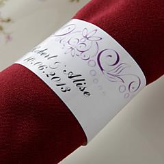 baratos Guardanapos para Casamentos-Guardanapos de casamento - 50pcs anéis de guardanapo Casamento Aniversário Festa de Noivado Chá de Cozinha Festa de 16 Anos Tema Flores