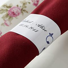 gepersonaliseerde papieren servetring - bloemendesign (set van 50) huwelijksreceptie