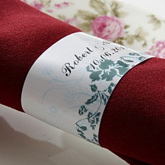 Gepersonaliseerde Papier Servet Ring - Nice Bloemen (set van 50) (set van 50)