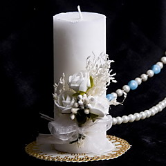 cheap Unity Candles-Colorful Candle With Bowknot Coral Wedding Wedding Ceremony Beautiful