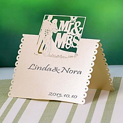 Pearl Paper Place Cards 12 Poly Bag Placecard Holders Wedding Reception
