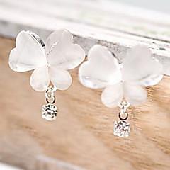 Damen Tropfen-Ohrringe Einzigartiges Design Modeschmuck Simple Style Strass Aleación Tierform Schmetterling Schmuck Für Party Alltag
