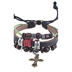 cheap Bracelets-Men's Women's Unisex Charm Leather Alloy Jewelry Party Special Occasion Birthday Gift Daily Casual Costume Jewelry Brown