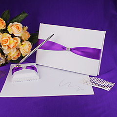 cheap Wedding Ceremony-Guest Book Pen Set Satin Polyester Ribbons Guest Book