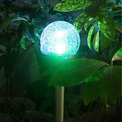 1PCS kleur veranderende led RVS zonne-energie gazon licht