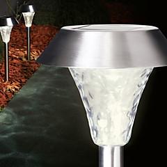 1PCS Witte LED RVS zonne-energie gazon licht