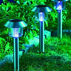 3pcs White LED RVS zonne-energie gazon licht