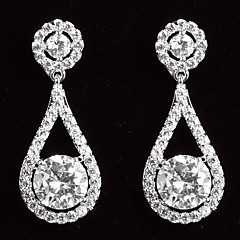 cheap Earrings-Women's Cubic Zirconia Platinum Drops Jewelry Costume Jewelry