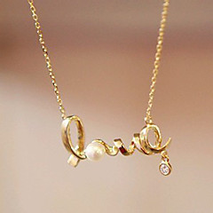 voordelige -Dames Hangertjes ketting - Hart, Liefde Eenvoudige Stijl Zilver, Gouden Kettingen Voor Feest, Verjaardag, Lahja