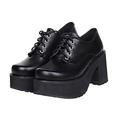 Παπούτσια Κλασσική/Παραδοσιακή Lolita Lolita Ψηλοτάκουνο Παπούτσια Μονόχρωμο 8 CM Για Συνθετικό δέρμα/Πολυουρεθάνη Δέρμα