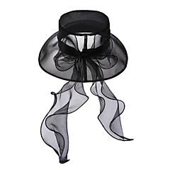 voordelige Hoofddeksels voor feesten-Tule Kristal Stof Organza tiaras hatut 1 Bruiloft Speciale gelegenheden  Feest / Uitgaan Causaal ulko- Helm
