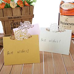 parel papier plaats kaarten 12 pvc zak plaatskaarthouders huwelijksreceptie
