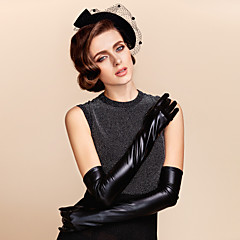 Leather Opera Length Glove Bridal Gloves Party/ Evening Gloves Winter Gloves