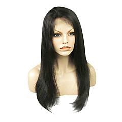 billiga Peruker och hårförlängning-Obehandlad hår Hel-spets Peruk Brasilianskt hår Rak Klassisk Densitet Hög kvalitet Korta Lång Mellanlängd Äkta peruker med hätta
