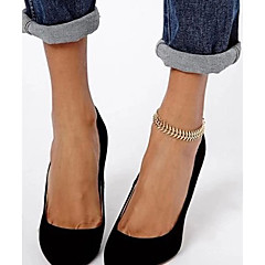 baratos -shixin® doces simples cadeia mulheres forma de espinha de peixe liga de ouro com os pés descalços sandálias (27 centímetros * 2cm * 2cm) (1 pc)