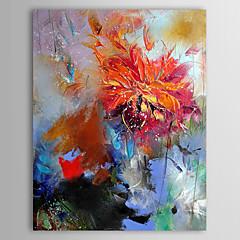 iarts®oil festmény virágos absztrakt piros virág feszített keret kézzel festett vászon