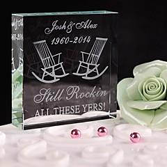 billige Kakedekorasjoner-Kakepynt Personalisert Krystall Bryllup / Jubileum / Bridal Shower / Baby Shower / 15- og 16-års bursdag / Bursdag Hvit Klassisk Tema