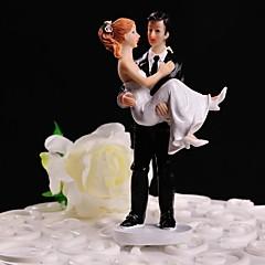 billige Kakedekorasjoner-Kakepynt Blomster Tema Klassisk Tema Klassisk Par Harpiks Bryllup med Gaveeske