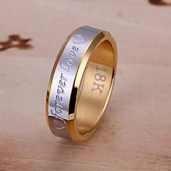 baratos Anéis-Anel - Estiloso Dourado Para Casamento / Festa / Noite