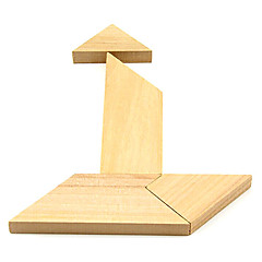 Wooden T Puzzle Brain Teaser IQ Toy