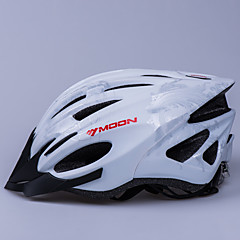 MOON Cycling Silver PC/EPS 21 Vents Luminous Warning Bike Helmet