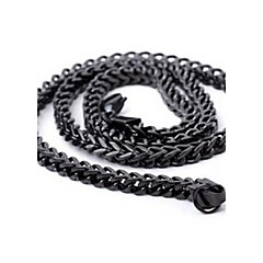 Men's Fashion Simple Titanium Steel Chain Necklace Christmas Gifts