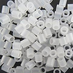 aproximativ 500pcs 5mm clar transparente margele Perler siguranțe margele margele HAMA DIY puzzle eva safty materiale pentru copii