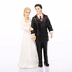 billige Kakedekorasjoner-Kakepynt Klassisk Tema Klassisk Par Harpiks Bryllup med Gaveeske
