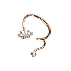Ear Cuffs luksusowa biżuteria Kryształ górski sztuczna Diament Stop Crown Shape Biżuteria Na Ślub Impreza Codzienny Casual Sport